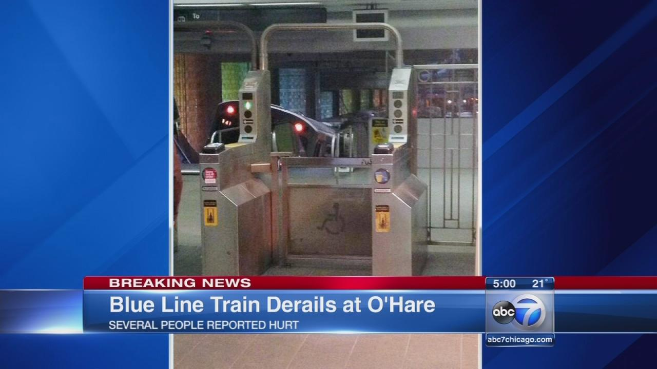 Blue Line derailment injures dozens, train hits escalator