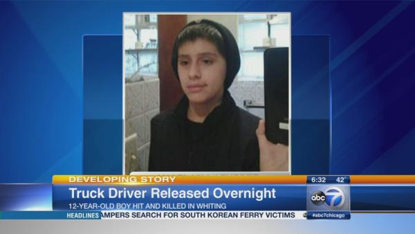 Truck driver released after boy dies in Ind. hit-and-run