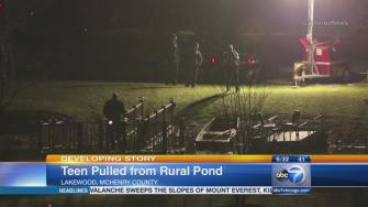 Boy, 15, rescued from Crystal Lake pond