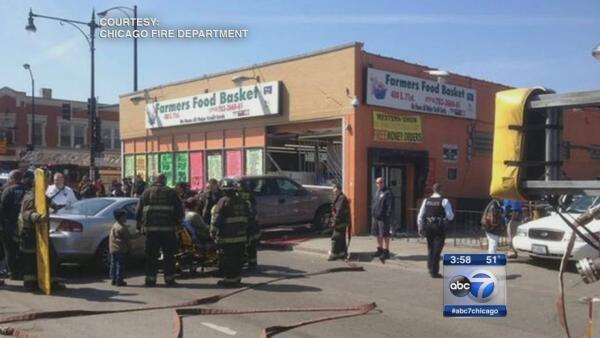 Truck crashes grocery store, several injured