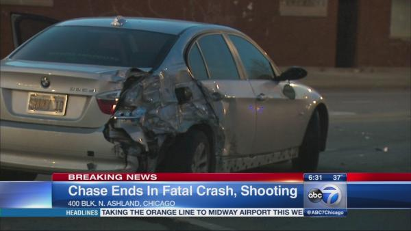 Teen fatally shot during car chase, crash