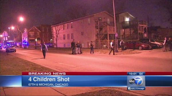 4 children injured in S. Side drive-by shooting