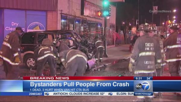 Van driver dies after CTA bus crash in Calumet Heights