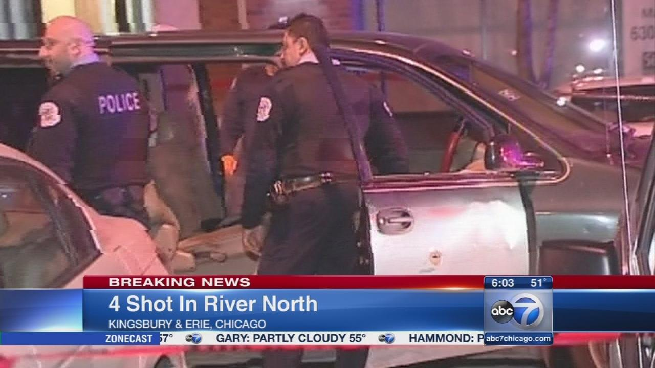 1 dead, 3 injured in River North shooting