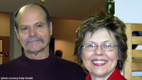 Two people onboard the plane-- identified as 67-year-old Lloyd McKee and his 63-year-old w