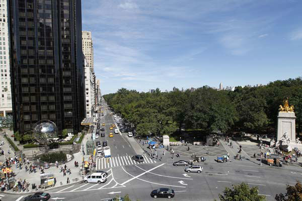 "<div class=""meta ""><span class=""caption-text "">Central Park is seen from a balconey of ""Discovering Columbus,"" by Japanese artist Tatzu Nishi, Wednesday, Sept. 19, 2012 in New York.  The 810-square-foot living?room offers spectacular views of mid-Manhattan. A 13-foot statue of Christopher Columbus stands amid the couches, lamps and coffee table. (AP Photo/Mary Altaffer) (AP Photo/ Mary Altaffer)</span></div>"