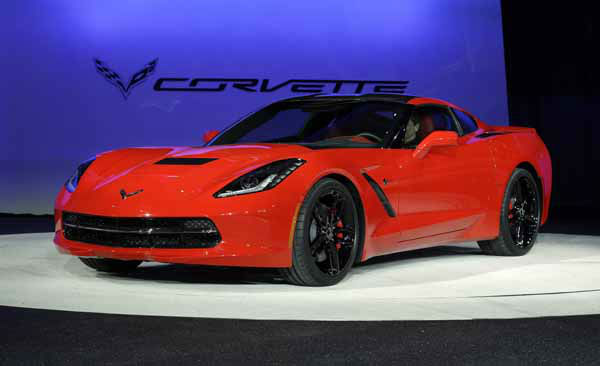 The 2014 Chevrolet Corvette Stingray is revealed at media previews for the North American International Auto Show in Detroit, Monday, Jan. 14, 2013.  &#40;AP Photo&#47;Paul Sancya&#41; <span class=meta>(AP Photo&#47; Paul Sancya)</span>