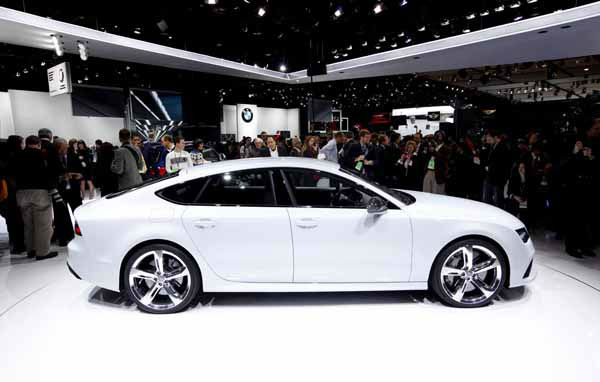 The Audi RS7 debutes at media previews for the North American International Auto Show in Detroit, Monday, Jan. 14, 2013.  &#40;AP Photo&#47;Paul Sancya&#41; <span class=meta>(AP Photo&#47; Paul Sancya)</span>