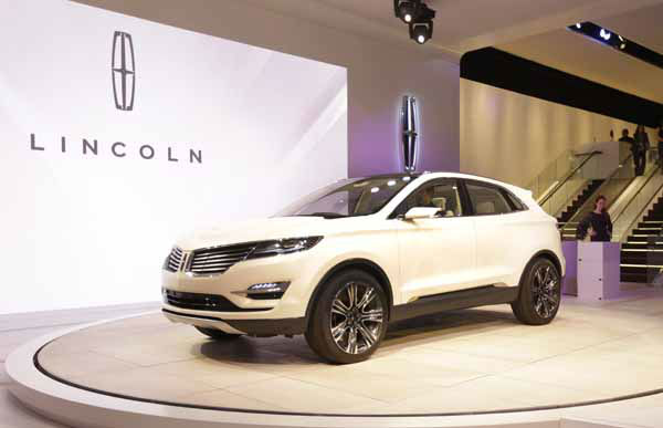 The Lincoln MKC Concept is unveiled during the North American International Auto Show in Detroit, Monday, Jan. 14, 2013. &#40;AP Photo&#47;Carlos Osorio&#41; <span class=meta>(AP Photo&#47; Carlos Osorio)</span>