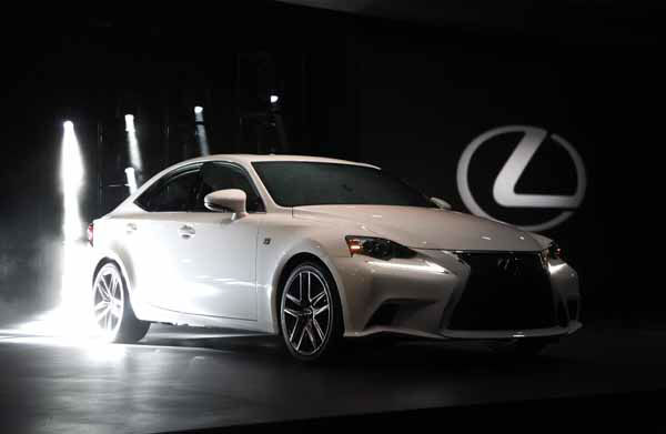The Lexus IS 350 F Sport debuts at media previews for the North American International Auto Show in Detroit, Tuesday, Jan. 15, 2013.  &#40;AP Photo&#47;Paul Sancya&#41; <span class=meta>(AP Photo&#47; Paul Sancya)</span>
