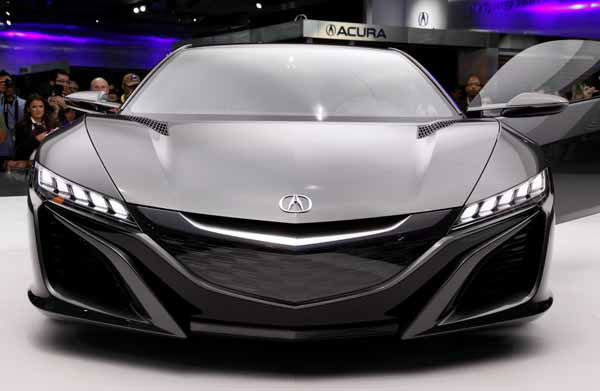 The Acura NSX Concept is shown at media previews for the North American International Auto Show in Detroit, Tuesday, Jan. 15, 2013.  &#40;AP Photo&#47;Paul Sancya&#41; <span class=meta>(AP Photo&#47; Paul Sancya)</span>