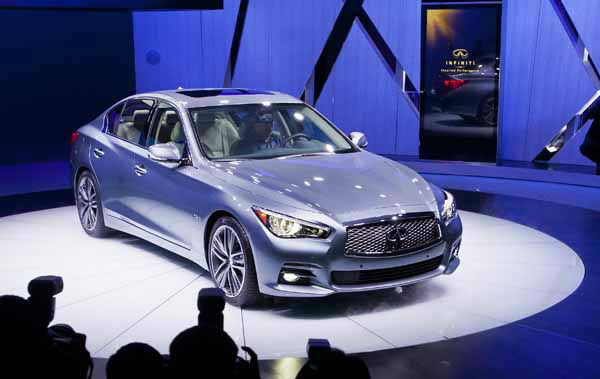 The Infiniti Q50 sedan is introduced at the North American International Auto Show, Monday, Jan. 14, 2013, in Detroit, Mich. &#40;AP Photo&#47;Tony Ding&#41; <span class=meta>(AP Photo&#47; TONY DING)</span>