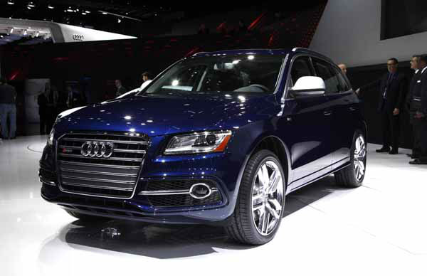 The Audi SQ5 debuts at media previews for the North American International Auto Show in Detroit, Monday, Jan. 14, 2013.  &#40;AP Photo&#47;Paul Sancya&#41; <span class=meta>(AP Photo&#47; Paul Sancya)</span>