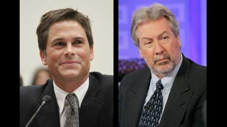 Rob Lowe, left, and Drew Peterson, right.