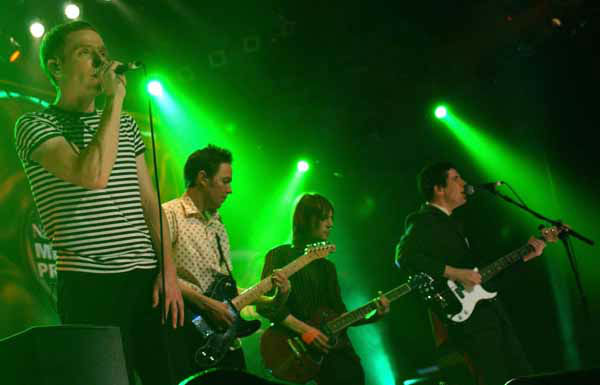 Belle and Sebastian performs live during the annual Mercury Music Prize at Grosvenor House, in London Tuesday, Sept. 7, 2004. &#40;AP Photo&#47;PA, Yui Mok&#41; ** UNITED KINGDOM OUT  NO SALES  MAGS OUT ** <span class=meta>(AP Photo&#47; YUI MOK)</span>