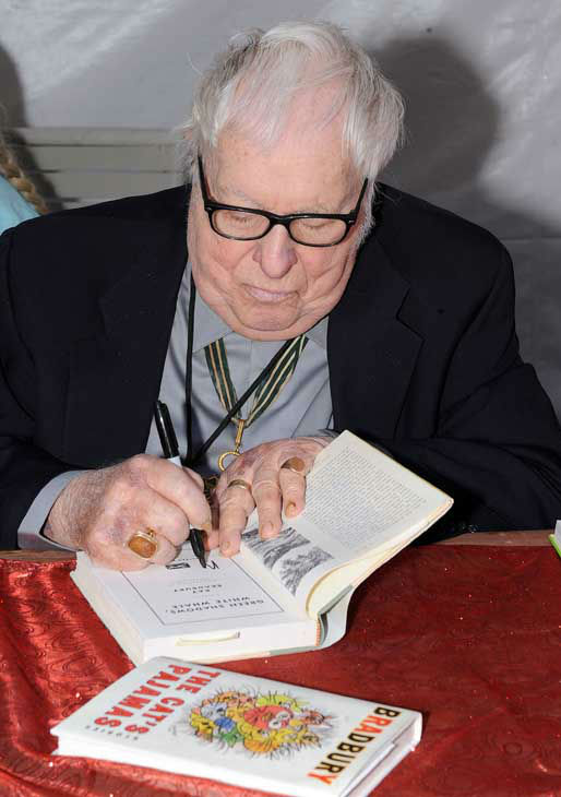 Author Ray Bradbury attends The Los Angeles Times Festival of Books at The University of California Los Angeles Saturday, April 25, 2009, in Los Angeles, Calif. &#40;AP Photo&#47;Katy Winn&#41; <span class=meta>(AP Photo&#47; Katy Winn)</span>