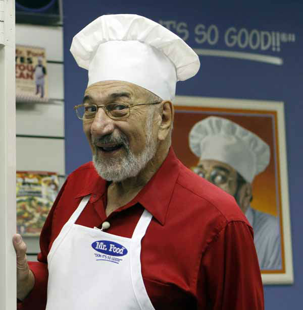 "<div class=""meta ""><span class=""caption-text "">In this photo taken Thursday, Oct. 14, 2010, Art Ginsburg, known as Mr. Food, is shown before the taping of a program in Fort Lauderdale, Fla. Art Ginsburg has spent the past 30 years quietly turning himself into an unlikely food celebrity.   (AP Photo/Alan Diaz) (Photo/Alan Diaz)</span></div>"