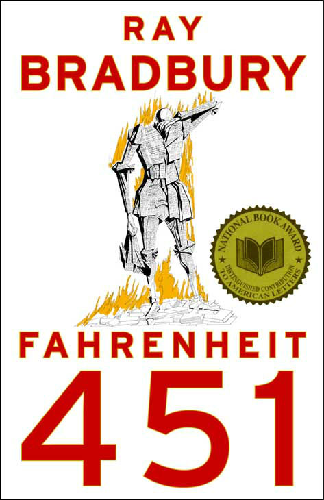 "<div class=""meta ""><span class=""caption-text "">In this image released by Simon & Schuster, the cover of ""Fahrenheit 451,"" by Ray Bradbury, is shown. (AP Photo/Simon & Schuster) (AP Photo/ CL**NY**)</span></div>"