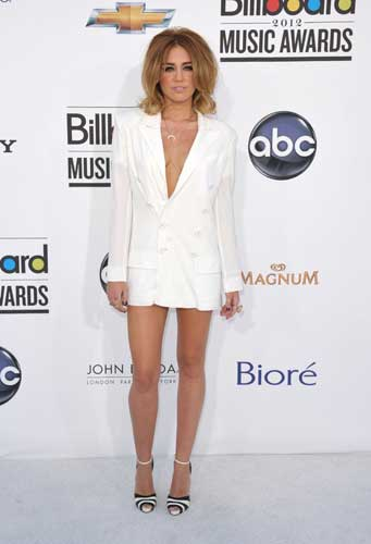 Miley Cyrus arrives at the 2012 Billboard Awards at the MGM Grand on Sunday, May 20, 2012 in Las Vegas, N.V. <span class=meta>(AP Photo&#47;John Shearer)</span>