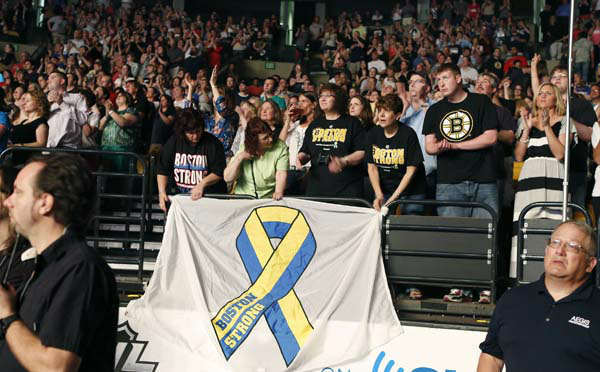 "<div class=""meta ""><span class=""caption-text "">Concert goers watch the Boston Strong Concert: An Evening of Support and Celebration at the TD Garden on Thursday, May 30, 2013 in Boston. (Photo by Bizuayehu Tesfaye/Invision/AP) (AP Photo/ Bizuayehu Tesfaye)</span></div>"