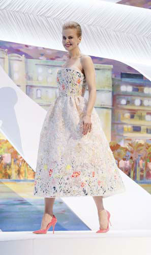 FILE - This May 15, 2013 file photo shows actor and jury member Nicole Kidman wearing a white-ground floral dress by Christian Dior Couture during the opening ceremony for the 66th international film festival, in Cannes, southern France. &#40;Photo by Todd Williamson&#47;Invision&#47;AP, file&#41; <span class=meta>(AP Photo&#47; Todd Williamson)</span>