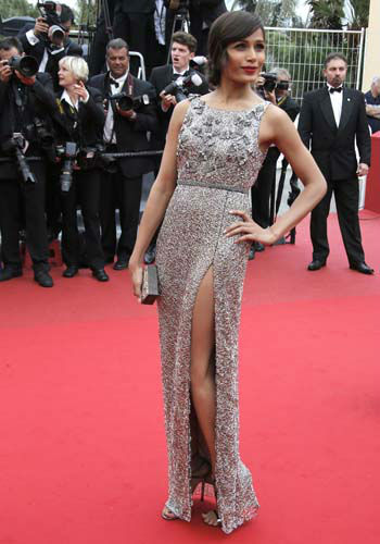 "<div class=""meta ""><span class=""caption-text "">FILE - This May 16, 2013 file photo shows actor Frieda Pinto as she arrives for the screening of the film Young & Beautiful at the 66th international film festival, in Cannes, southern France. (AP Photo/Lionel Cironneau, file) (AP Photo/ Lionel Cironneau)</span></div>"