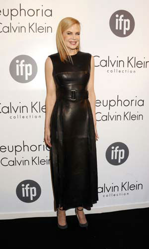 FILE - This May 16, 2013 file photo shows actress Nicole Kidman wearing a black leather Calvin Klein dress at the Calvin Klein party, in Cannes, southern France. &#40;Photo by Todd Williamson&#47;Invision&#47;AP, file&#41; <span class=meta>(AP Photo&#47; Todd Williamson)</span>