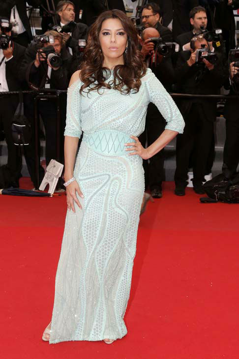 "<div class=""meta image-caption""><div class=""origin-logo origin-image ""><span></span></div><span class=""caption-text"">Model Eva Longoria arrives on the red carpet for the screening of the film Jimmy P. Psychotherapy of a Plains Indian at the 66th international film festival, in Cannes, southern France, Saturday, May 18, 2013. (Photo by Todd Williamson/Invision/AP) (AP Photo/ Todd Williamson)</span></div>"