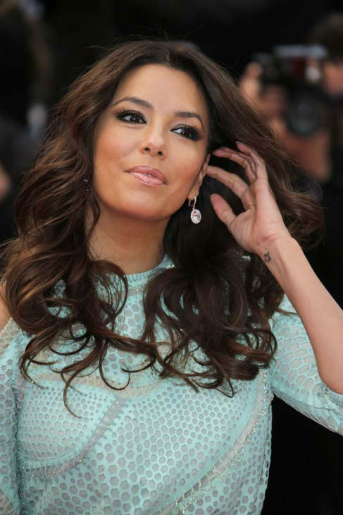 Actress Eva Longoria arrives for the screening of the film Jimmy P. Psychotherapy of a Plains Indian at the 66th international film festival, in Cannes, southern France, Saturday, May 18, 2013. &#40;AP Photo&#47;Francois Mori&#41; <span class=meta>(AP Photo&#47; Francois Mori)</span>