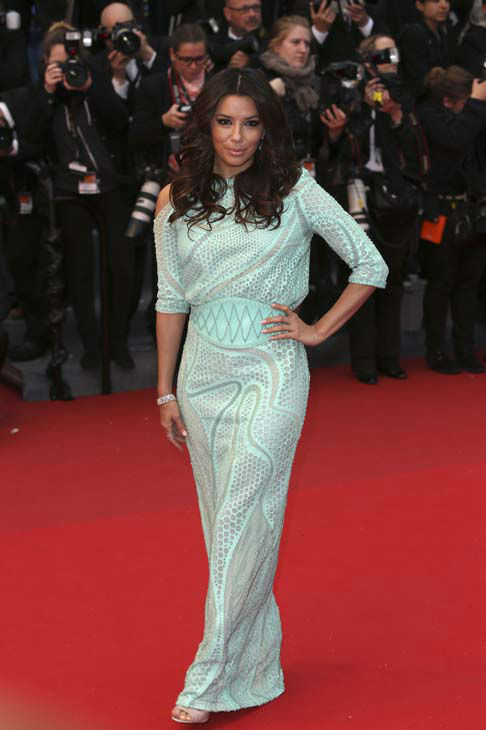 Actress Eva Longoria poses for photographers for the screening of the film Jimmy P. Psychotherapy of a Plains Indian at the 66th international film festival, in Cannes, southern France, Saturday, May 18, 2013. &#40;Photo by Joel Ryan&#47;Invision&#47;AP&#41; <span class=meta>(AP Photo&#47; Joel Ryan)</span>