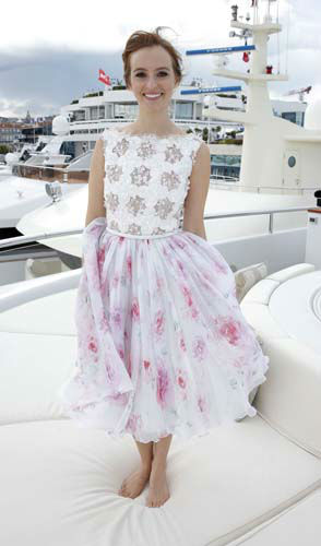 FILE - This May 19, 2013 file photo shows actress Ahna O&#39;Reilly wearing a Georges Hobeika top and floral printed skirt embroidered with Swarovski crystals at the Art of Elysium Party during the 66th international film festival, in Cannes, southern France. &#40;Photo by Todd Williamson&#47;Invision&#47;AP, file&#41; <span class=meta>(AP Photo&#47; Todd Williamson)</span>
