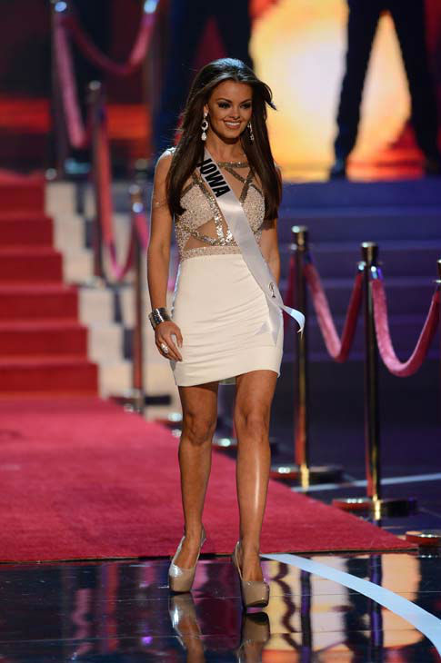 Miss Iowa Richelle Orr walks onstage during the Miss USA 2013 pageant, Sunday, June 16, 2013, in Las Vegas. &#40;AP Photo&#47;Jeff Bottari&#41; <span class=meta>(AP Photo&#47; Jeff Bottari)</span>