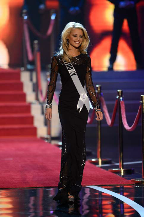 Miss Kentucky Allie Leggett walks onstage during the Miss USA 2013 pageant, Sunday, June 16, 2013, in Las Vegas. &#40;AP Photo&#47;Jeff Bottari&#41; <span class=meta>(AP Photo&#47; Jeff Bottari)</span>