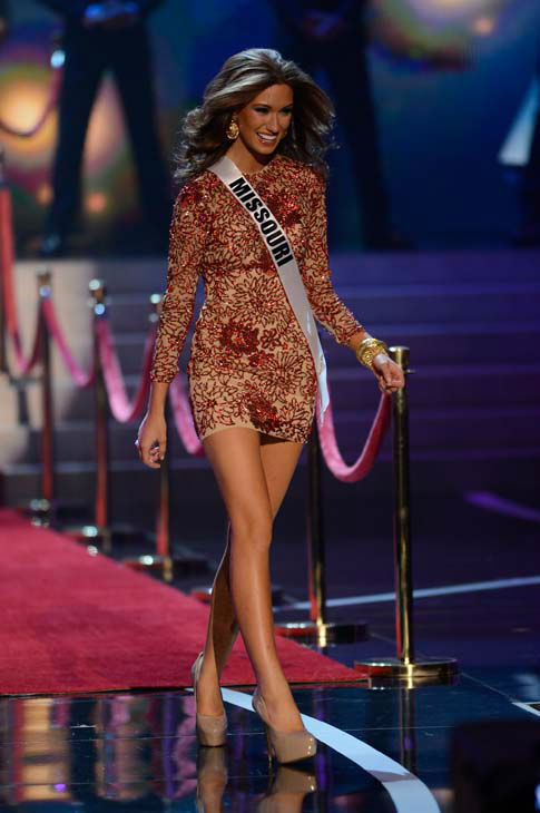 Miss Missouri Ellie Holtman walks onstage during the Miss USA 2013 pageant, Sunday, June 16, 2013, in Las Vegas. &#40;AP Photo&#47;Jeff Bottari&#41; <span class=meta>(AP Photo&#47; Jeff Bottari)</span>