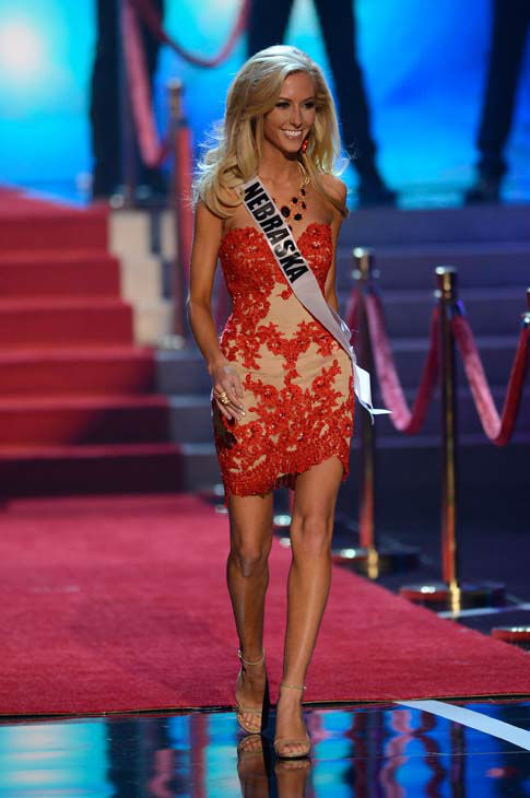 "<div class=""meta image-caption""><div class=""origin-logo origin-image ""><span></span></div><span class=""caption-text"">Miss Nebraska Ellie Lorenzen walks onstage during the Miss USA 2013 pageant, Sunday, June 16, 2013, in Las Vegas. (AP Photo/Jeff Bottari) (AP Photo/ Jeff Bottari)</span></div>"
