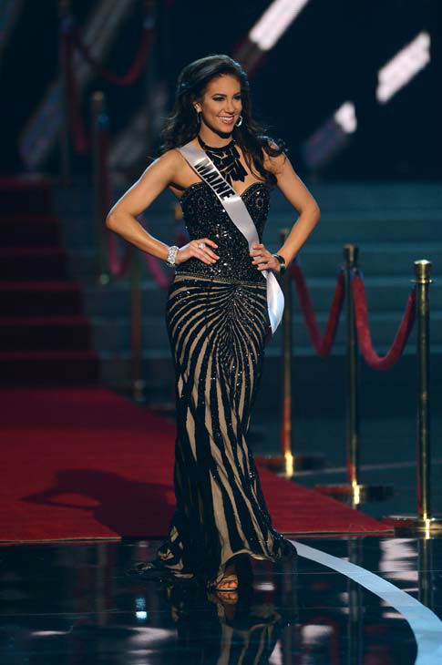 Miss Maine Ali Clair walks onstage during the Miss USA 2013 pageant, Sunday, June 16, 2013, in Las Vegas. &#40;AP Photo&#47;Jeff Bottari&#41; <span class=meta>(AP Photo&#47; Jeff Bottari)</span>