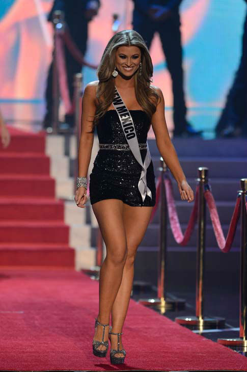 "<div class=""meta image-caption""><div class=""origin-logo origin-image ""><span></span></div><span class=""caption-text"">Miss New Mexico Kathleen Danzer walks onstage during the Miss USA 2013 pageant, Sunday, June 16, 2013, in Las Vegas. (AP Photo/Jeff Bottari) (AP Photo/ Jeff Bottari)</span></div>"