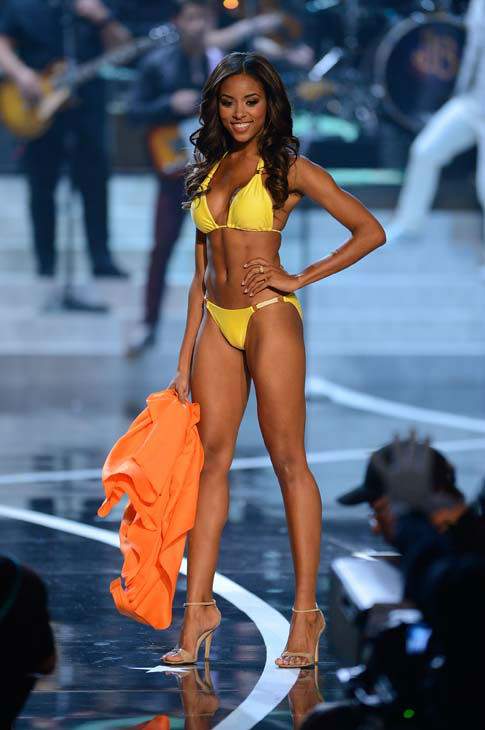 Miss South Carolina Megan Pinckney walks the runway during the swimsuit competition of the Miss USA 2013 pageant, Sunday, June 16, 2013, in Las Vegas. &#40;AP Photo&#47;Jeff Bottari&#41; <span class=meta>(AP Photo&#47; Jeff Bottari)</span>