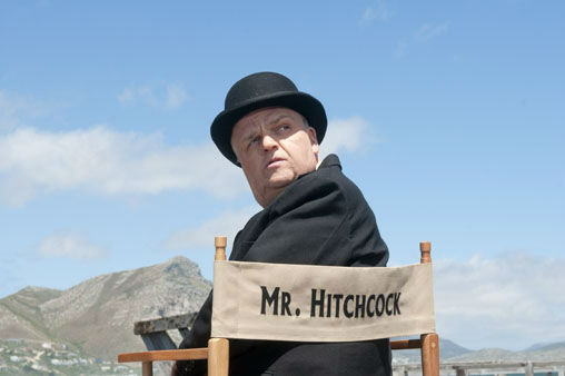 This image released by HBO shows Toby Jones, portraying Alfred Hitchcock in a scene from the film &#34;The Girl.&#34; &#34;The Girl&#34; was nominated for a Golden Globe for best television movie or miniseries on Thursday, Dec. 13, 2012. The 70th annual Golden Globe Awards will be held on Jan. 13.  <span class=meta>(&#40;AP Photo&#47;HBO, Kelly Walsh&#41;)</span>