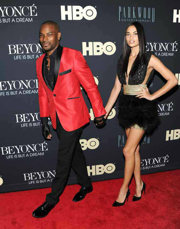 Models Tyson Beckford and Shanina Shaik attend the premiere of &#34;Beyonce: Life Is But A Dream&#34; at the Ziegfeld Theatre on Tuesday, Feb. 12, 2013 in New York. &#40;Photo by Evan Agostini&#47;Invision&#47;AP&#41; <span class=meta>(Photo&#47;Evan Agostini)</span>