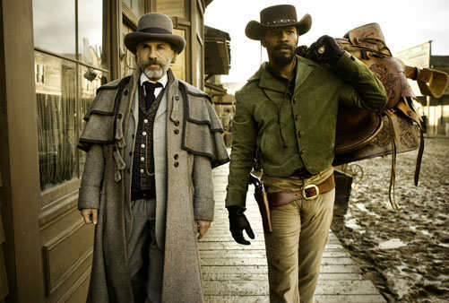This undated publicity image released by The Weinstein Company shows, from left, Christoph Waltz as Schultz and Jamie Foxx as Django in the film &#34;Django Unchained,&#34; directed by Quentin Tarantino. The film was nominated for a Golden Globe for best drama on Thursday, Dec. 13, 2012. The 70th annual Golden Globe Awards will be held on Jan. 13.  <span class=meta>(P Photo&#47;The Weinstein Company, Andrew Cooper, SMPSP)</span>