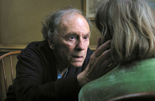 "This undated file film image released by Sony Pictures Classics shows Jean-Louis Trintignant in a scene from the Austrian film, ""Amour."" The film was nominated for a Golden Globe for best foreign film on Thursday, Dec. 13, 2012. The 70th annual Golden Globe Awards will be held on Jan. 13."