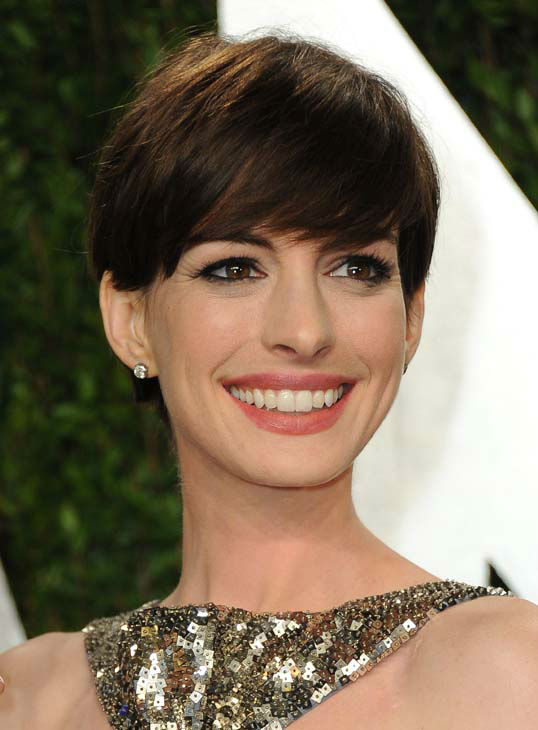 Anne Hathaway arrives at the 2013 Vanity Fair Oscars Viewing and After Party on Sunday, Feb. 24 2013 at the Sunset Plaza Hotel in West Hollywood, Calif. &#40;Photo by Jordan Strauss&#47;Invision&#47;AP&#41; <span class=meta>(AP Photo&#47; Jordan Strauss)</span>