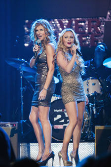This image released by ABC shows Connie Britton, left, and Hayden Panettiere in a scene from &#34;Nashville.&#34;   Britton was nominated Thursday, Dec. 13, 2012 for a Golden Globe for best actress in a drama series and Panettiere was nominated for best supporting actress in a series for their roles in &#34;Nashville.&#34;  The 70th annual Golden Globe Awards will be held on Jan. 13. &#40;AP Photo&#47;ABC, Chris Hollo&#41; <span class=meta>(AP Photo&#47; Chris Hollo)</span>