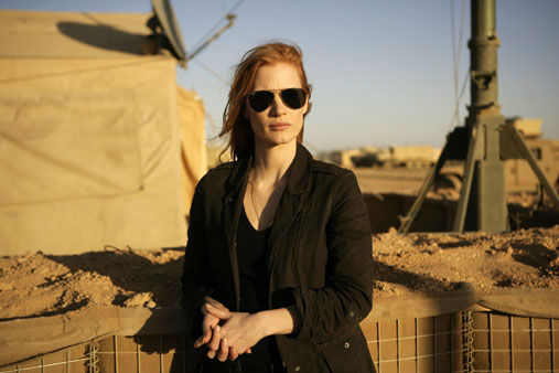 This undated publicity film image provided by Columbia Pictures Industries, Inc. shows Jessica Chastain in&#34;Zero Dark Thirty.&#34; Chastain was nominated Thursday, Dec. 13, 2012 for a Golden Globe for best actress in a drama for her role in the film. The 70th annual Golden Globe Awards will be held on Jan. 13.  <span class=meta>(&#40;AP Photo&#47;Columbia Pictures Industries, Inc., Jonathan Olley, File&#41;)</span>