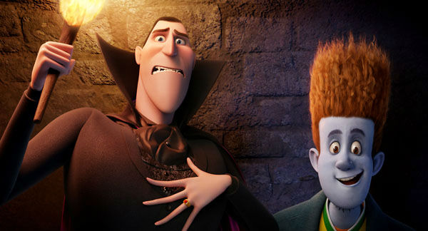 This film image released by Sony pictures shows Dracula, voiced by Adam Sandler, left, and Johnnystein, voiced by Andy Samberg in a scene from &#34;Hotel Transylvania.&#34; The film was nominated for a Golden Globe for best animated film on Thursday, Dec. 13, 2012. The 70th annual Golden Globe Awards will be held on Jan. 13.  &#40;AP Photo&#47;Sony Pictures&#41; <span class=meta>(AP Photo&#47; Courtesy of Sony Pictures Animat)</span>