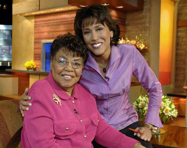 This 2006 photo released by ABC shows &#34;Good Morning America&#34; co-host Robin Roberts, right, with her mother Lucimarian Roberts on the set in New York. Jeffrey W. Schneider, senior vice president of ABC News, said 88-year-old Lucimarian Roberts died Thursday, Aug. 30, 2012. ABC&#39;s Facebook page said Robins traveled &#34;home to Mississippi just in time to see her.&#34; The death came on the same day Roberts said goodbye to her co-workers and audience before starting medical leave for a bone marrow transplant. Her departure had been set for Friday. But in a last-minute change of plans she told her viewers she was leaving a day early to visit her ailing mother.  WABC-TV said Lucimarian Roberts was the first African-American to head Mississippi&#39;s board of education. She also collaborated with her daughter on a book titled, &#34;My Story, My Song: Mother-Daughter Reflections on Life and Faith.&#34; &#40;AP Photo&#47;ABC, Donna Svennevik&#41; <span class=meta>(AP Photo&#47; DONNA SVENNEVIK)</span>