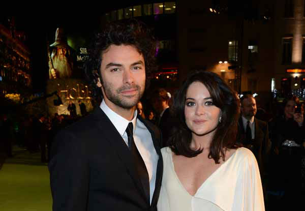 Actor Aidan Turner and partner Sarah Greene arrive at the UK premiere of &#34;The Hobbit: An Unexpected Journey&#34; at The Odeon Leicester Square, London on Wednesday, Dec. 12, 2012. &#40;Photo by Jon Furniss&#47;Invision&#47;AP&#41; <span class=meta>(Photo&#47;Jon Furniss)</span>