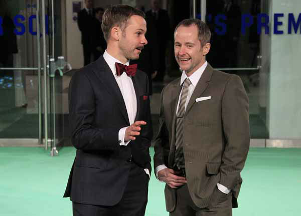Actors Billy Boyd, right, and Dominic Monaghan arrive at the UK premiere of &#34;The Hobbit: An Unexpected Journey&#34; at The Odeon Leicester Square, London on Wednesday, Dec. 12, 2012.  &#40;Photo by Joel Ryan&#47;Invision&#47;AP&#41; <span class=meta>(Photo&#47;Joel Ryan)</span>