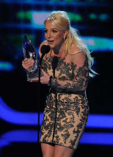 Britney Spears accepts the award for favorite pop artist at the 40th annual People&#39;s Choice Awards at the Nokia Theatre L.A. Live on Wednesday, Jan. 8, 2014, in Los Angeles. &#40;Photo by Chris Pizzello&#47;Invision&#47;AP&#41; <span class=meta>(Photo&#47;Chris Pizzello)</span>